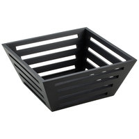 American Metalcraft TWBB94 9 1/2 inch Square Tapered Birch Bread Basket