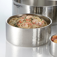 American Metalcraft DWBH10 4.9 Qt. Hammered Double Wall Insulated Stainless Steel Bowl