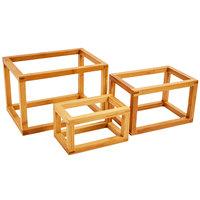 American Metalcraft BAMRSET 3 Piece Bamboo Frame Riser Set