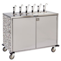 Lakeside 70271GS Stainless Steel E-Z Serve 12-Pump Condiment Dispensing Cart with Gray Sand Finish for 3 Gallon Condiment Pouches - 27 1/2 inch x 50 1/4 inch x 48 1/2 inch