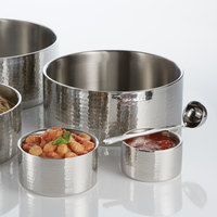 American Metalcraft DWBH12 6.9 Qt. Hammered Double Wall Insulated Stainless Steel Bowl