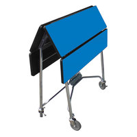 Lakeside 416 Mobile Square Top Fold-Up Room Service Table with Royal Blue Finish - 22 1/4 inch x 36 inch x 30 inch
