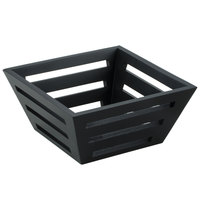 American Metalcraft TWBB73 7 inch Square Tapered Birch Bread Basket