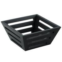 American Metalcraft TWBB73 7 inch Square Tapered Birch Bread Basket
