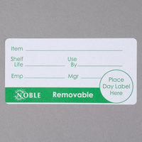 "Noble Products 2"" x 4"" Removable Product Day Label - 500/Roll"