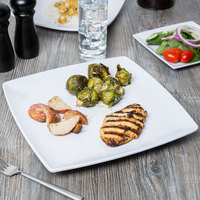Thunder Group 29012WT Classic White 12 inch x 12 inch Square Melamine Plate - 12/Case
