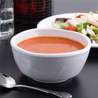 Thunder Group 39055WT Classic White 19 oz. Round Melamine Round Bowl - 12/Case