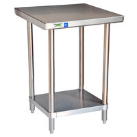 Regency 18 Gauge 30 inch x 36 inch 430 All Stainless Steel Commercial Work Table with Undershelf