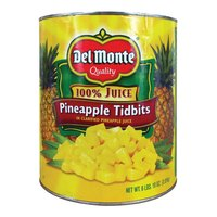 Pineapple Tidbits in Juice 6 #10 Cans / Case