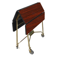 Lakeside 416 Mobile Square Top Fold-Up Room Service Table with Red Maple Finish - 22 1/4 inch x 36 inch x 30 inch