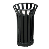 Rubbermaid FGMT12 Americana Series Black Round Steel Urn with Galvanized Steel Liner (FGMT12GLBK)