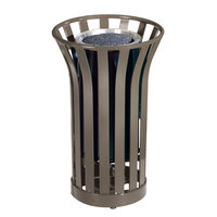 Rubbermaid FGMT12 Americana Series Architectural Bronze Round Steel Urn with Galvanized Steel Liner (FGMT12GLABZ)