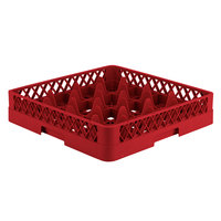 Vollrath TR8 Traex® Full-Size Red 16-Compartment 3 1/4 inch Glass Rack
