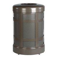Rubbermaid FGA38T Architek Drop-In Top Architectural Bronze Steel Waste Container with Rigid Plastic Liner 38 Gallon (FGA38TABZPL)