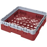 Cambro BR414416 Cranberry Camrack Customizable Full Size Open Base Rack with 1 Extender