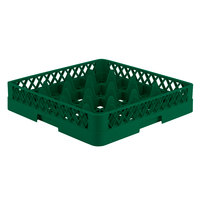 Vollrath TR8 Traex® Full-Size Green 16-Compartment 3 1/4 inch Glass Rack