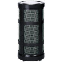 Rubbermaid FGA51SU Architek Radius Urn Top Black Steel Waste Container with Urn and Rigid Plastic Liner 5 Gallon (FGA51SUBKPL)