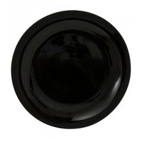 10 Strawberry Street BCP0004 Black Coupe 7 5/8 inch Porcelain Salad / Dessert Plate - 24/Case