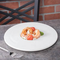 10 Strawberry Street WTR-10RDPLT Whittier 10 inch White Round Porcelain Plate - 18/Case