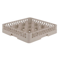 Vollrath TR8 Traex Full-Size Beige 16-Compartment 3 1/4 inch Glass Rack