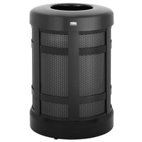 Rubbermaid FGA38TBKPL Architek Drop-In Top Black Steel Waste Container with Rigid Plastic Liner 38 Gallon