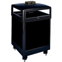 Rubbermaid FGR38HTWU Dimension Standard Series Black Solid Panels Square Steel Waste Receptacle with Weather Urn and Rigid Plastic Liner 38 Gallon (FGR38HTWUSBKPL)