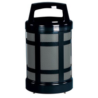 Rubbermaid FGA38ABZPL Architek Canopy Top Black Steel Waste Container with Rigid Plastic Liner 38 Gallon