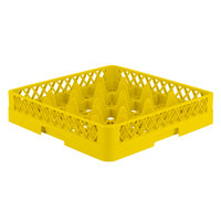 Vollrath TR8 Traex® Full-Size Yellow 16-Compartment 3 1/4 inch Glass Rack