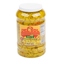 Del Sol 1 Gallon Hot Banana Peppers - 4/Case