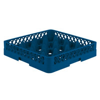 Vollrath TR8 Traex® Full-Size Royal Blue 16-Compartment 3 1/4 inch Glass Rack