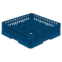 Vollrath TR8A Traex® Full-Size Royal Blue 16-Compartment 4 13/16 inch Glass Rack with Open Rack Extender On Top