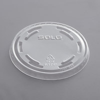 Solo UltraClear 610TP Clear PET Plastic No Slot Lid - 100/Pack