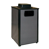 Rubbermaid FGR18WU Dimension 500 Series Black with Anthracite Perforated Steel Panels Square Steel Ash/Trash Receptacle with Weather Urn and Rigid Plastic Liner 24 Gallon (FGR18WU500PL)