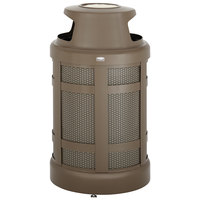 Rubbermaid FGA38SUABZPL Architek Canopy Top Architectural Bronze Steel Waste Container with Urn and Rigid Plastic Liner 38 Gallon