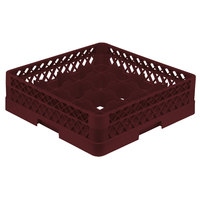 Vollrath TR8A Traex® Full-Size Burgundy 16-Compartment 4 13/16 inch Glass Rack with Open Rack Extender On Top