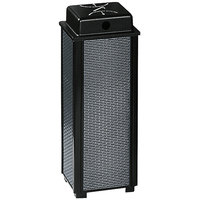 Rubbermaid FGR40WU Dimension 500 Series Black with Anthracite Perforated Steel Panels Square Steel Urn with Weather Shield (FGR40WU500)
