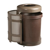 Rubbermaid FGA38TSD Architek Drop-In Top Architectural Bronze Steel Waste Container with Side Door and Rigid Plastic Liner 38 Gallon (FGA38TSDABZPL)