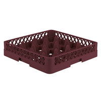 Vollrath TR8 Traex® Full-Size Burgundy 16-Compartment 3 1/4 inch Glass Rack