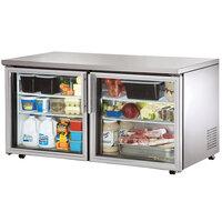 True TUC-60G-LP 60 inch Low Profile Glass Door Undercounter Refrigerator