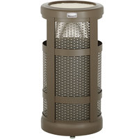 Rubbermaid FGA51SUABZPL Architek Radius Urn Top Architectural Bronze Steel Waste Container with Urn and Rigid Plastic Liner 5 Gallon