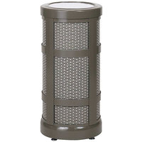 Rubbermaid FGA51SU Architek Radius Urn Top Architectural Bronze Steel Waste Container with Urn and Rigid Plastic Liner 5 Gallon (FGA51SUABZPL)