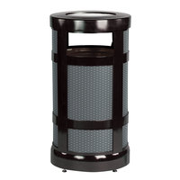 Rubbermaid FGA17SU Architek Radius Urn Top Black Steel Waste Container with Urn and Rigid Plastic Liner 17 Gallon (FGA17SUBKPL)