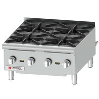 Cecilware Pro HPCP424 24 inch Four Burner Gas Hot Plate - 88,000 BTU