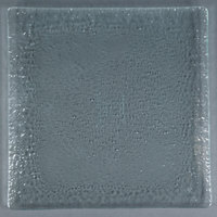 10 Strawberry Street HD908OC Izabel Lam Morning Tide 12 inch Ocean Clear Glass Square Plate - 12/Case