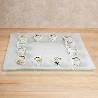 10 Strawberry Street HD908OP Izabel Lam Morning Tide 12 inch Opal Glass Square Plate - 12/Case