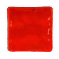 10 Strawberry Street HD2583RO Izabel Lam Heirloom 12 inch Red Glass Square Plate - 12/Case