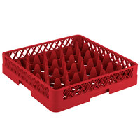 Vollrath TR11 Traex Rack Max Full-Size Red 20-Compartment 3 1/4 inch Glass Rack