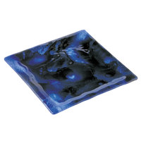 10 Strawberry Street HD2584B Izabel Lam Cumulus 11 inch Blue Glass Square Plate - 12/Case