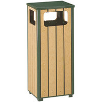 Rubbermaid FGR1450 Regent 50 Series Flat-Top Empire Green Steel and Polyethylene Square Waste Receptacle with Rigid Plastic Liner 12 Gallon (FGR1450PLEGN)