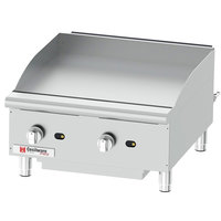 Cecilware Pro GCP24 24 inch Two Burner Countertop Gas Griddle - 60,000 BTU